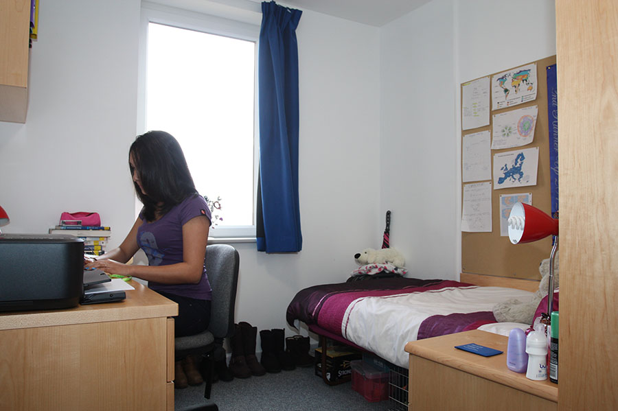 a single occupancy study bedroom at Burma Road