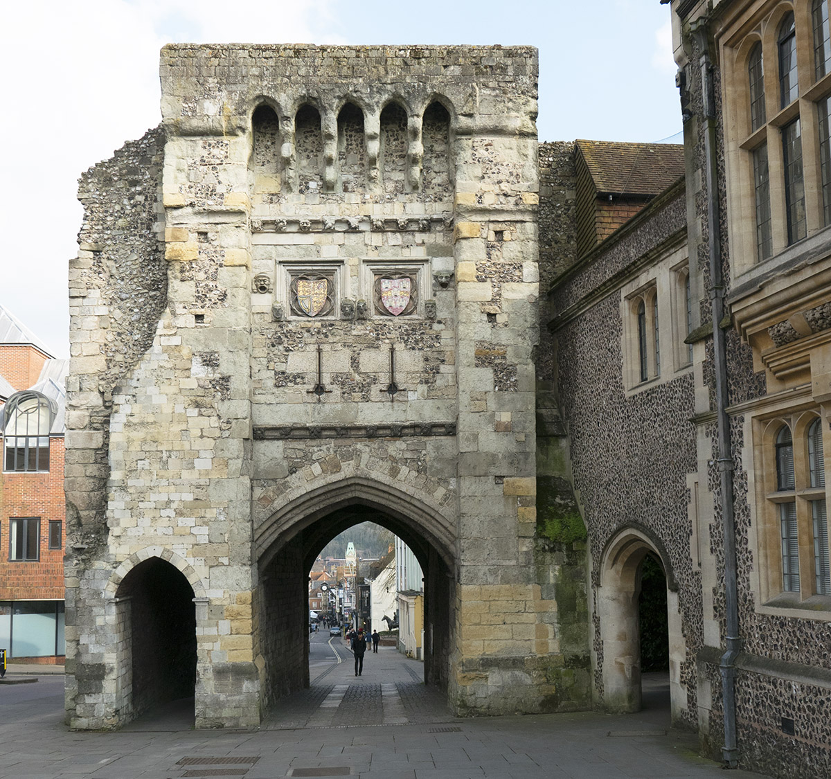 The Westgate is the last remaining mediaeval gate into Winchester.