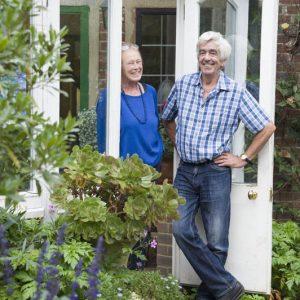 Doug and Linda Smith, creators of the garden at Meon Orchard.